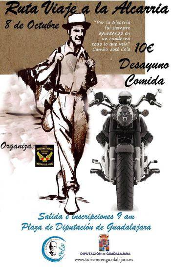 La ruta del viaje a La Alcarria de Cela también se hará en moto el próximo sábado