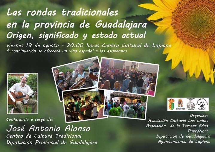 """El viernes 19, conferencia de José Antonio Alonso en Lupiana sobre """"rondas tradicionales"""""""