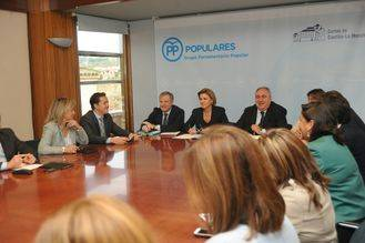 """Cospedal muestra su preocupación por Castilla-La Mancha """"en relación con las cuentas públicas y la falta de presupuesto"""""""