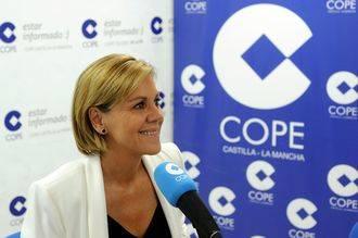 """Cospedal: """"Es de sentido común que el PP y el PSOE puedan llegar a acuerdos; nosotros lo intentamos desde diciembre"""""""
