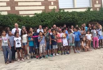 La Finca de Alovera de la Diputación acoge la fiesta de despedida a los niños saharauis
