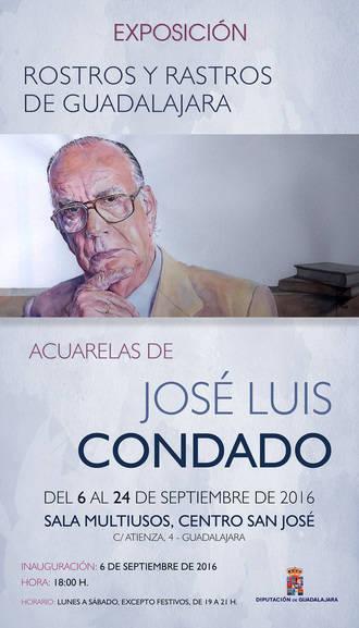 """""""Rostros y rastros de Guadalajara"""" de José Luis Condado, exposición de Diputación para Ferias"""