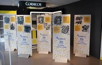 Exposición sobre el 300 aniversario de CORREOS en la Oficina Principal de Guadalajara