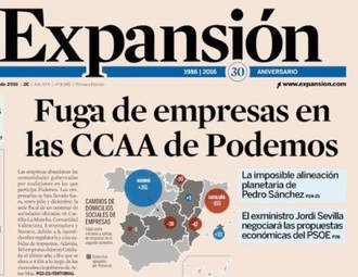 La creación de empresas en la Castilla La Mancha de Page y Podemos cae en picado, por contra crece un 23,4% en España