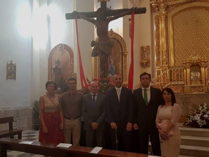 El presidente de la Diputación participa en las fiestas patronales de Quer