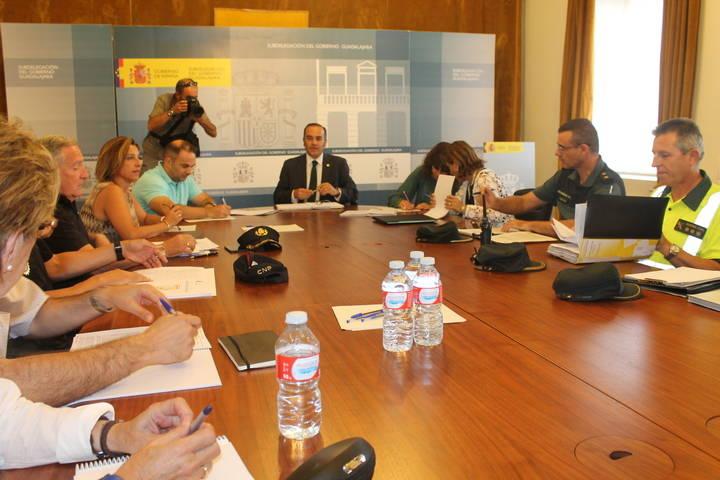 Reunión para garantizar la seguridad durante las Ferias y Fiestas de Guadalajara