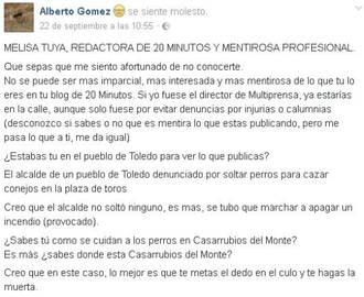 Piden la dimisión y cese de un concejal socialista de Castilla La Mancha por insultar y vejar a una periodista