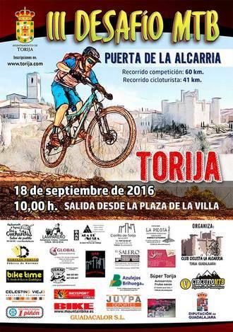 El domingo 18, III Desafío MTB Puerta de la Alcarria en Torija, penúltima prueba del Circuito Diputación