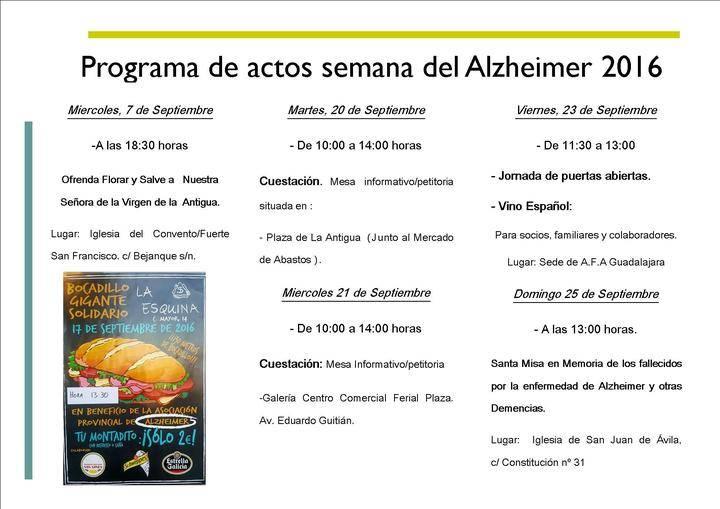 AFA Guadalajara celebra la Semana Mundial del Alzheimer 2016