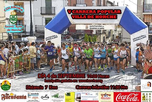 """La Carrera Popular """"Villa de Horche"""" se celebrará el día 4 de septiembre"""