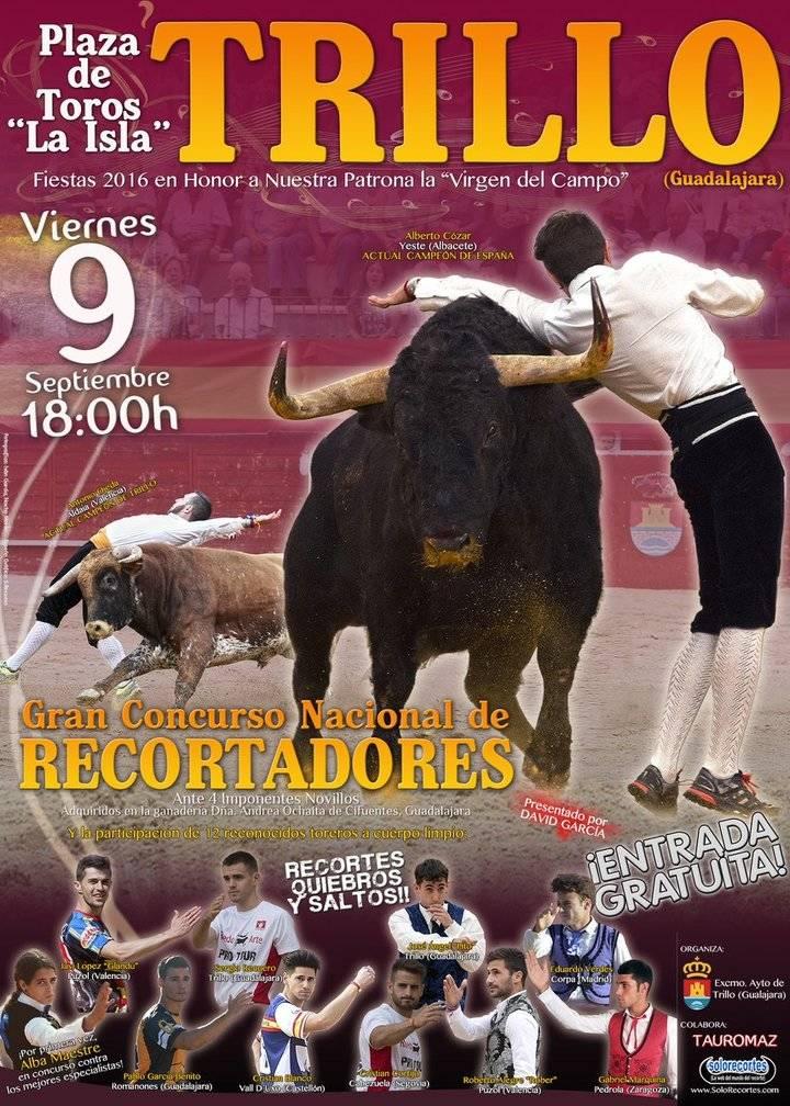 La plaza de toros 'La Isla' de Trillo acoge este viernes un Concurso Nacional de Recortadores
