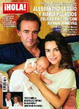 ¡HOLA! Lequio y María Palacios, felices en casa con su hija Ginevra