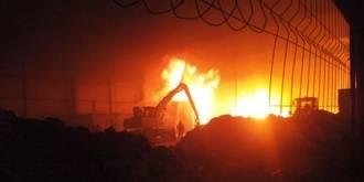 Otro incendio industrial en Chiloeches: Ahora, una planta de tratamiento de pan