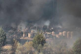 La calidad del aire cerca del fuego de Chiloeches es