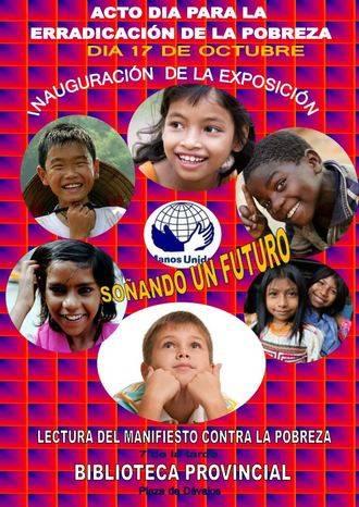 Manos Unidas inaugurará en Dávalos una exposición para la erradicación de la pobreza