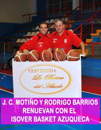 J.C. Motiño y Rodrigo Barrios continuarán un año más en el Isover Basket Azuqueca