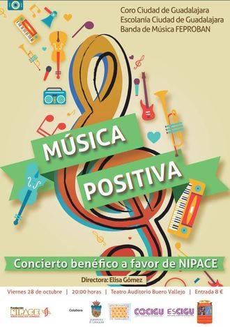 El teatro Buero Vallejo acogerá el 28 de octubre el concierto benéfico 'Música Positiva' a favor de Nipace