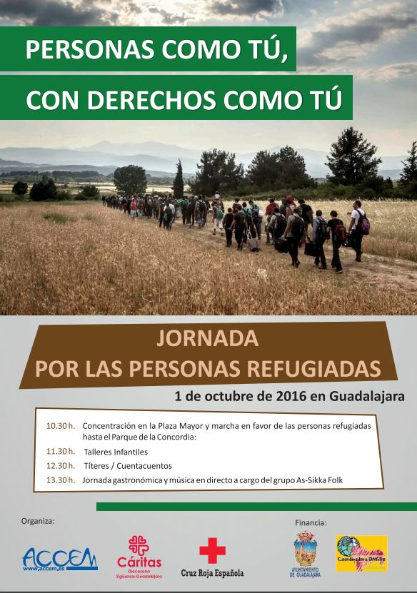 Cruz Roja, Accem y Cáritas participan en Guadalajara en la Jornada por las Personas Refugiadas